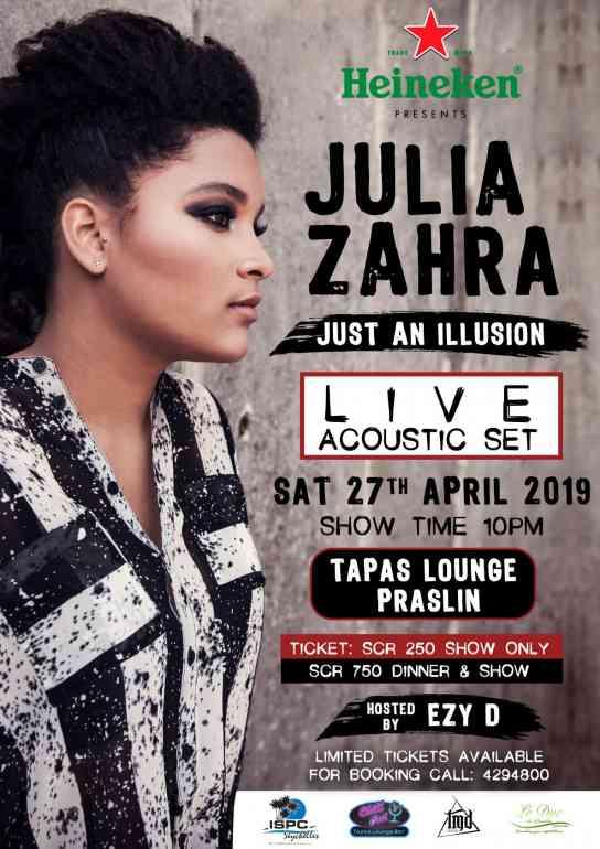 Julia Zahra, Acoustic set, live show, gu