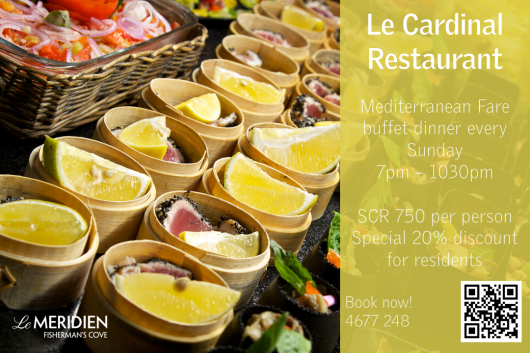 This is an image for Paris Seychelles Restaurant (Le Meridien Fisherman's Cove)