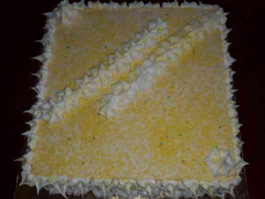 Vanilla spinge cake
