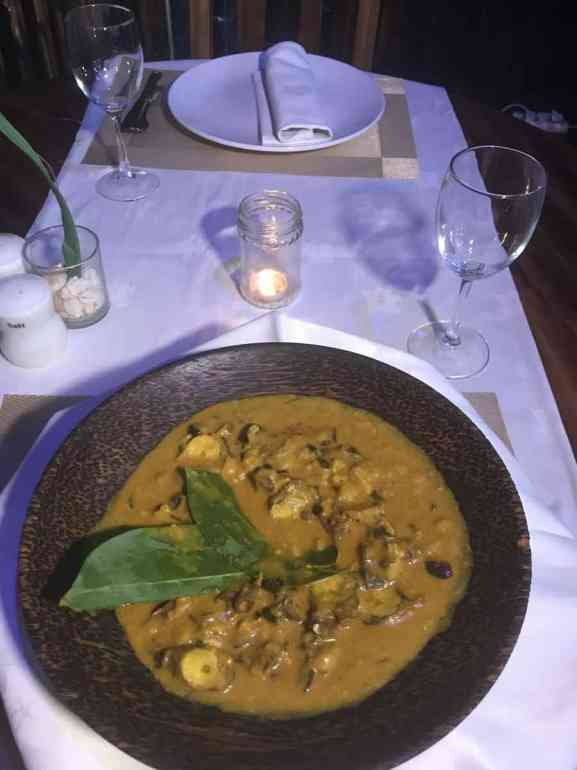 Octopus curry
