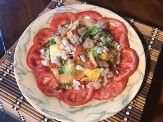 Fish salad creol style