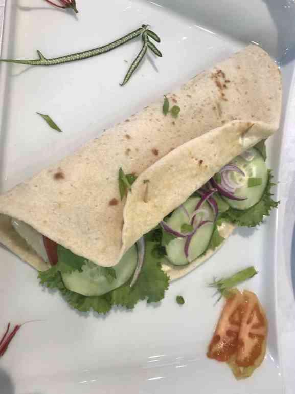 Vegetarian piadina